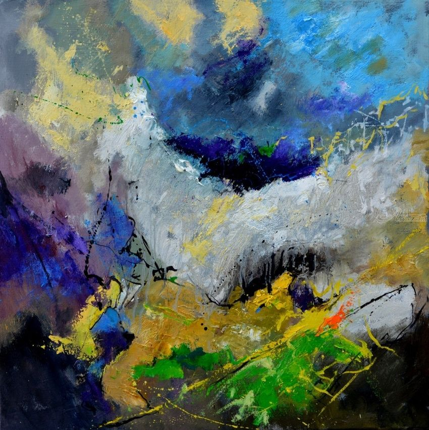abstract 77513013, Paintings, Abstract, Decorative, Canvas, By Pol Henry Ledent