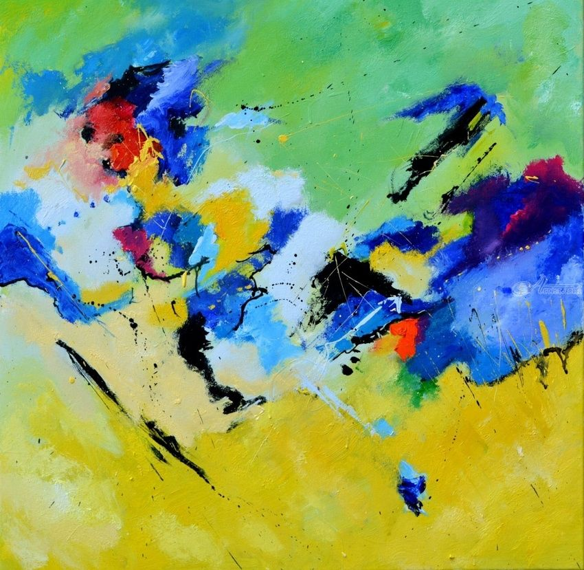 abstract 7771601, Paintings, Abstract, Decorative, Canvas, By Pol Henry Ledent