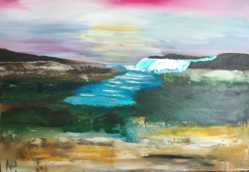 Abstract Painting Gift Idea Acrylic Art Long Walk 10 Paintings By Nataliia Plakhotnyk Artist Com