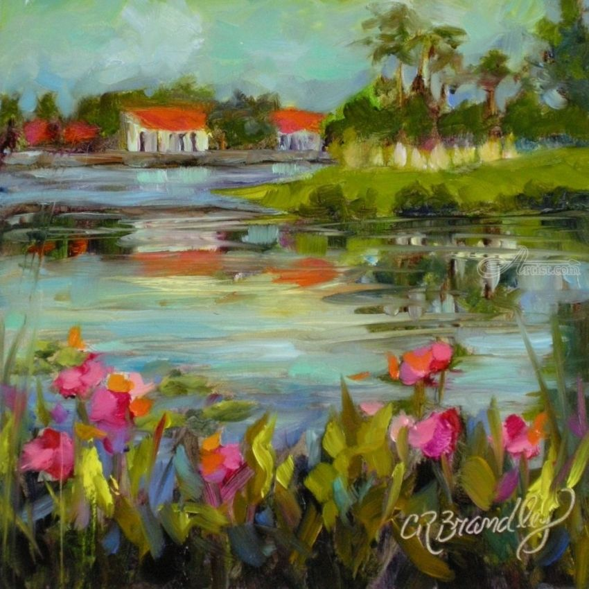 Across the Pond, Paintings, Fine Art, Impressionism, Landscape, Oil, By Chris Brandley