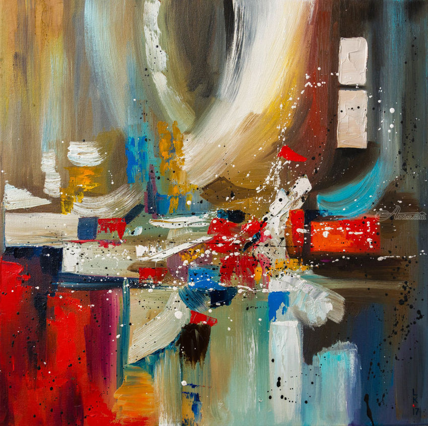 AFTER PARTY (framed), Paintings, Abstract, Fantasy, Canvas, Oil, By Liubov Kuptsova