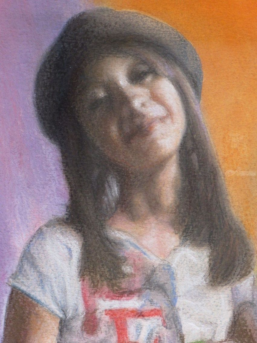 Alexis, Drawings / Sketch,Paintings, Fine Art,Realism, Children,Daily Life,Figurative,People,Portrait, Mixed,Painting,Pastel,Watercolor, By James Cassel