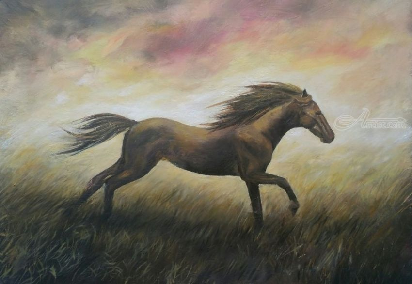 Alone, Paintings, Realism, Animals, Oil, By Cornel Moldovan