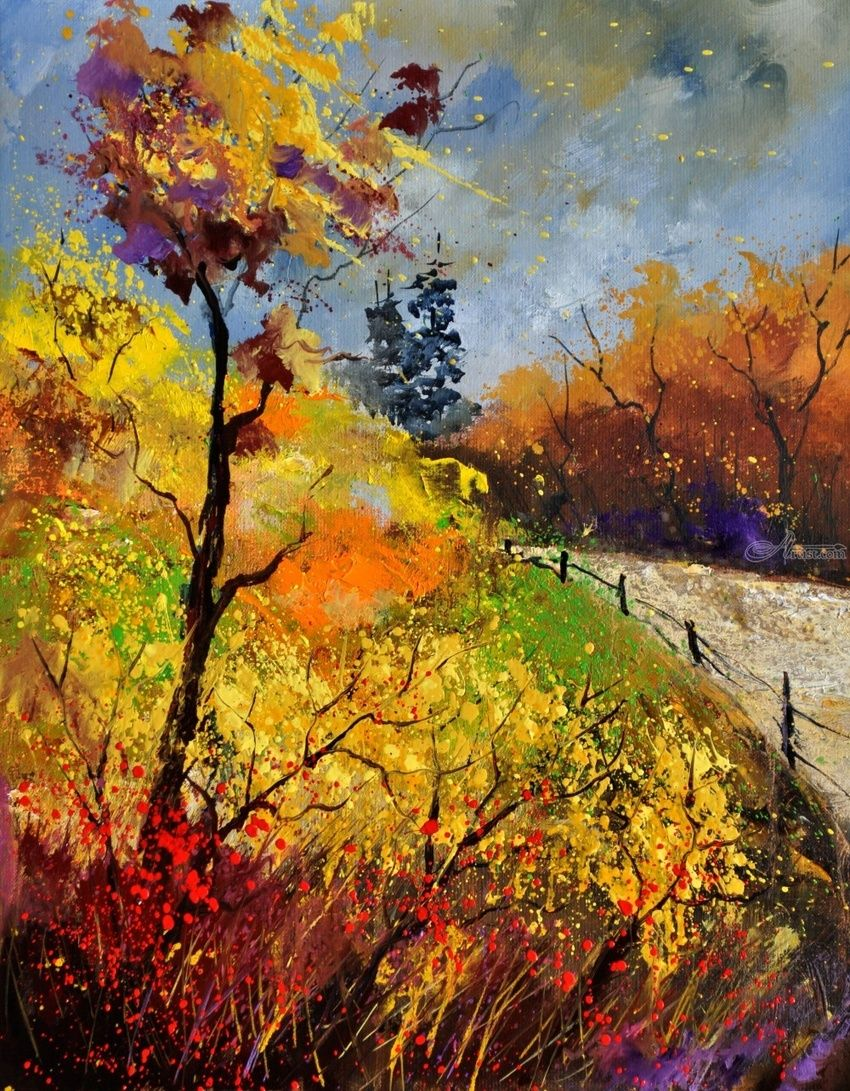 autumn 454111, Paintings, Impressionism, Landscape, Canvas, By Pol Henry Ledent