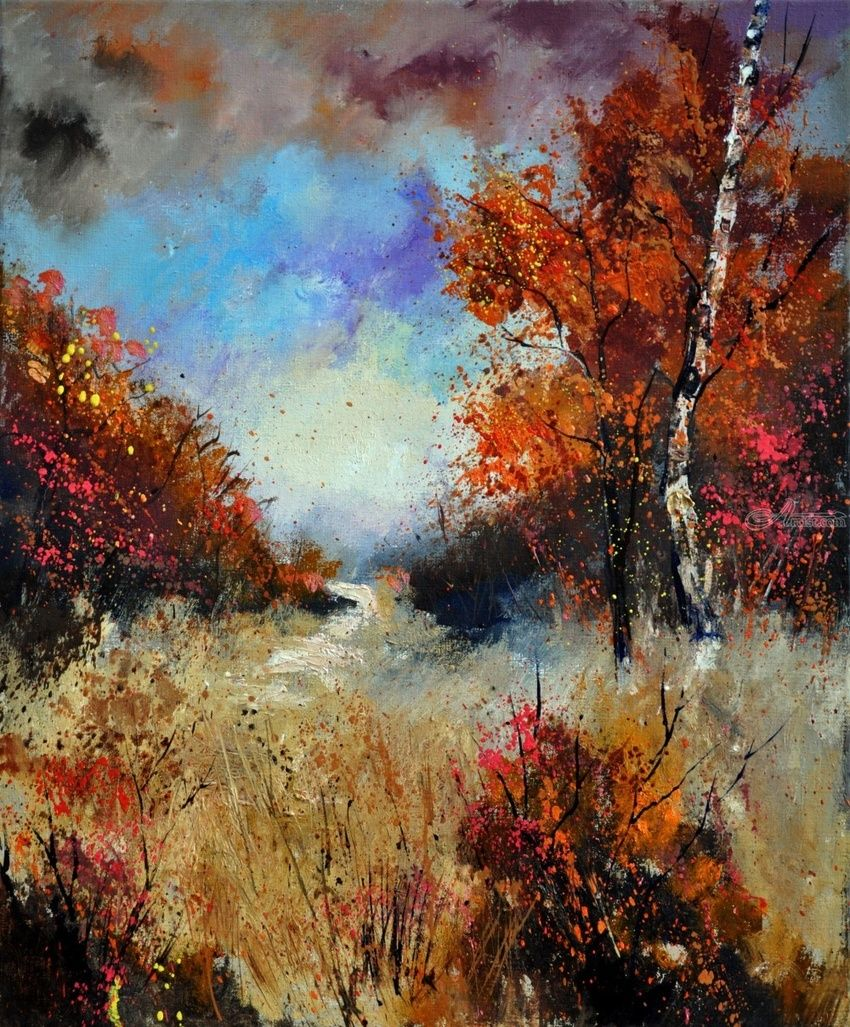 Autumn 5641, Paintings, Impressionism, Landscape, Canvas, By Pol Henry Ledent