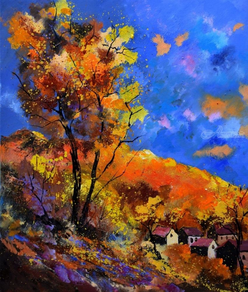 autumn 675101, Paintings, Expressionism, Landscape, Canvas, By Pol Henry Ledent