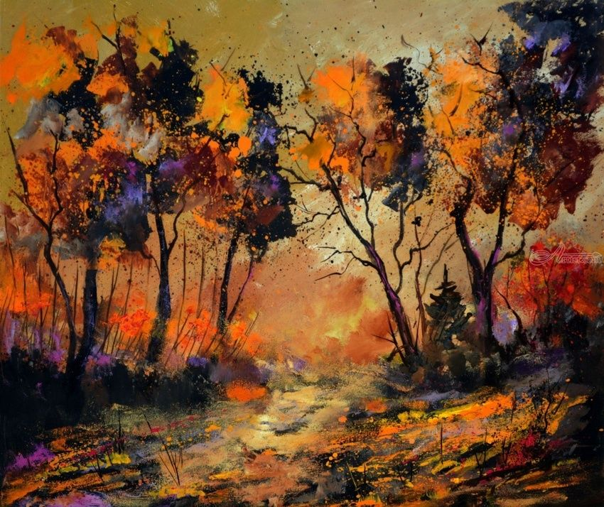 autumn 766130, Paintings, Expressionism, Landscape, Canvas, By Pol Henry Ledent