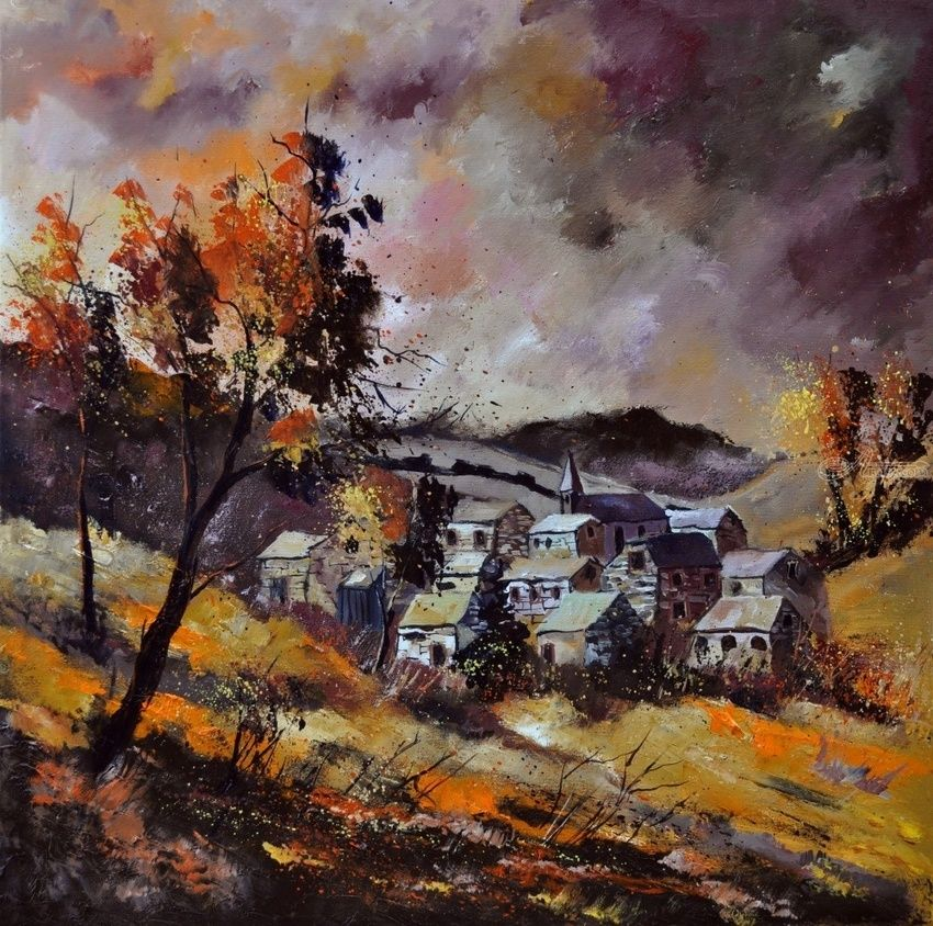 Autumn 774101, Paintings, Impressionism, Landscape, Canvas, By Pol Henry Ledent