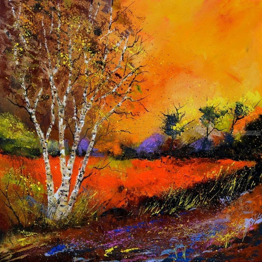 Autumn 8851, Paintings, Expressionism, Decorative, Canvas, By Pol Henry Ledent