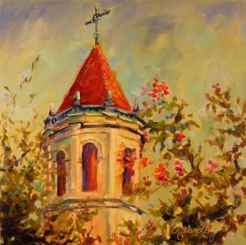 Awakening, Paintings, Fine Art, Impressionism, Architecture, Cityscape, Floral, Inspirational, Religious, Spiritual, Window on the World, Oil, By Chris Brandley