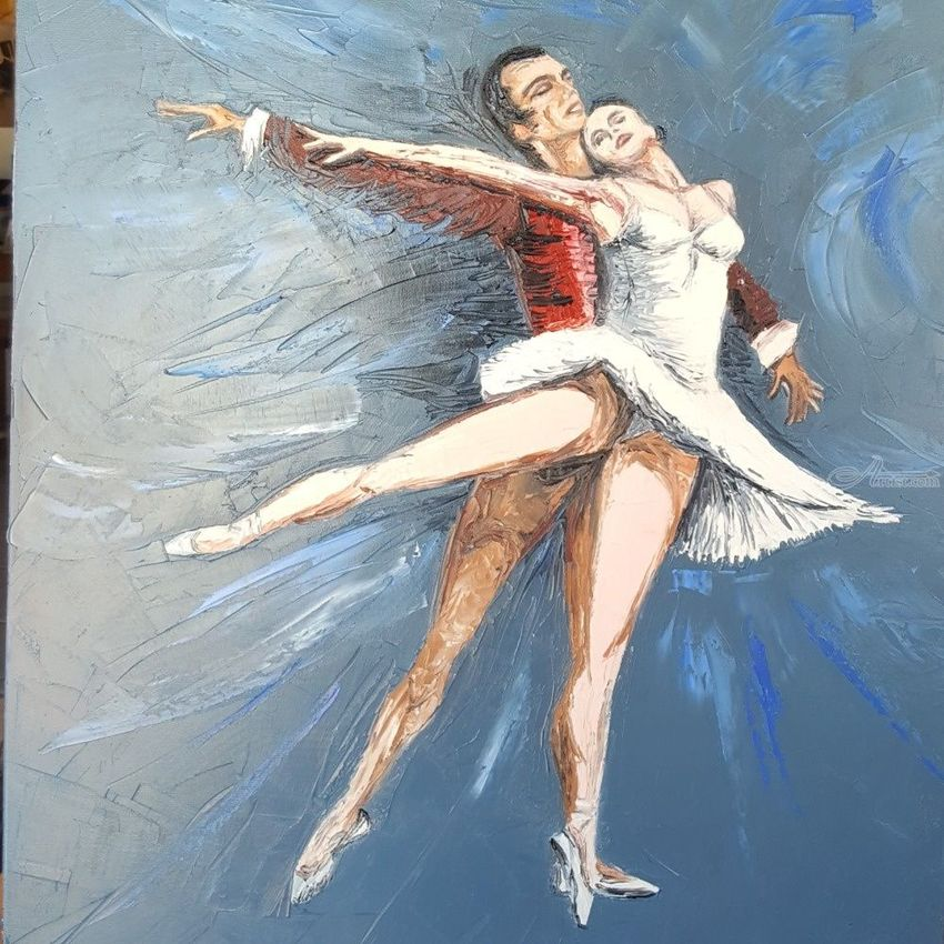 Bailarines, Paintings, Impressionism, Dance, Canvas, By Diego Ariel Catello
