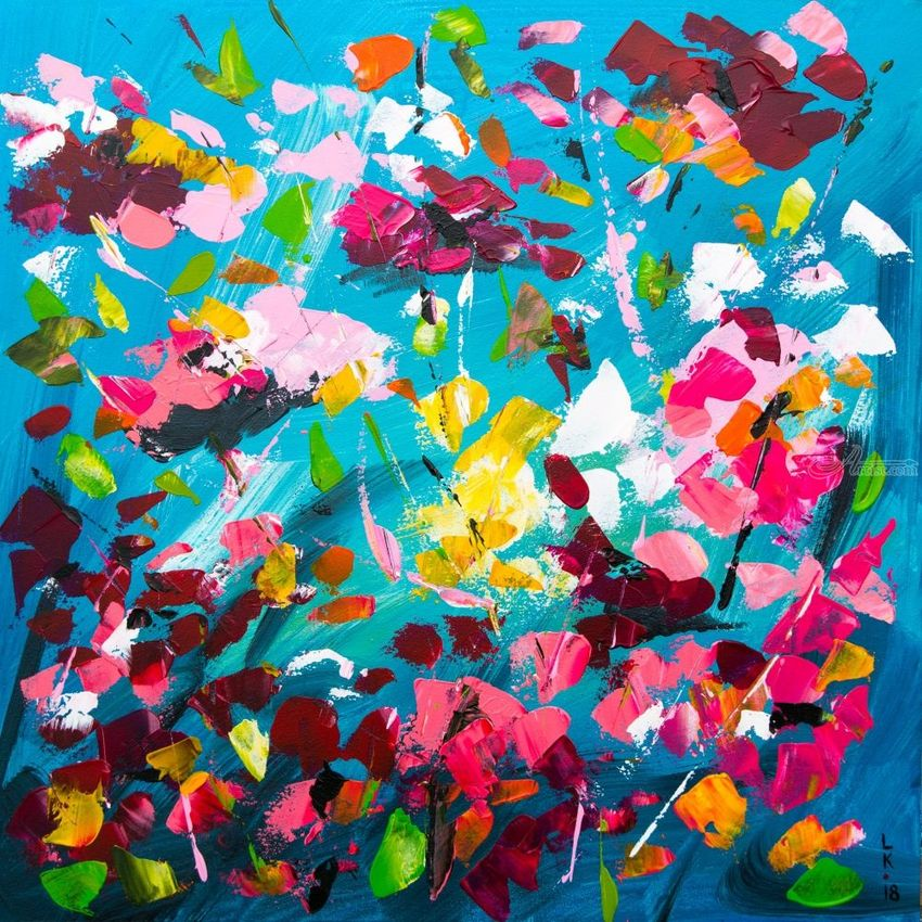 Blossoming, Paintings, Abstract, Decorative, Floral, Acrylic, By Liubov Kuptsova