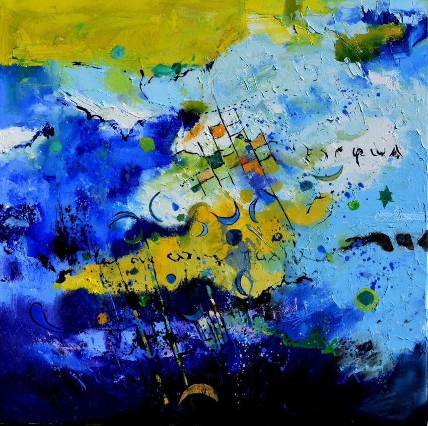 Blue constellation, Paintings, Expressionism, Decorative, Canvas, By Pol Henry Ledent