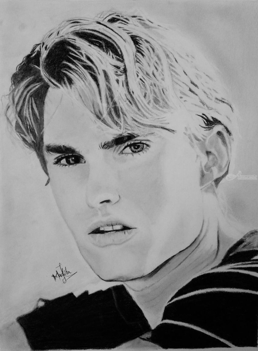 Celebrity sketch on paper drawings sketch by madiha