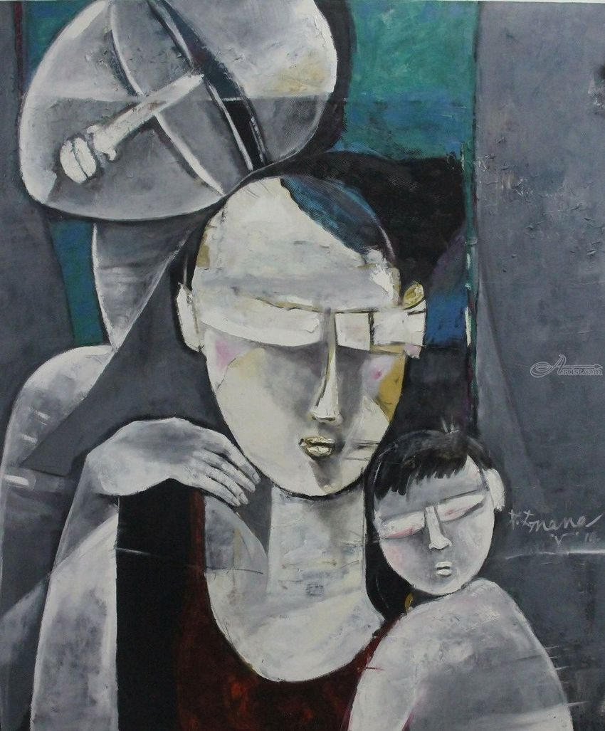 Image result for gray people paintings