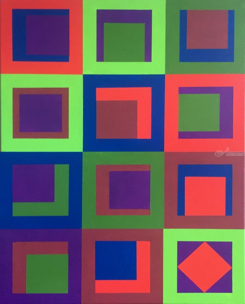 Cubbyholes, Paintings, Abstract, Pop Art, Furniture, Acrylic, By Rick Ruark