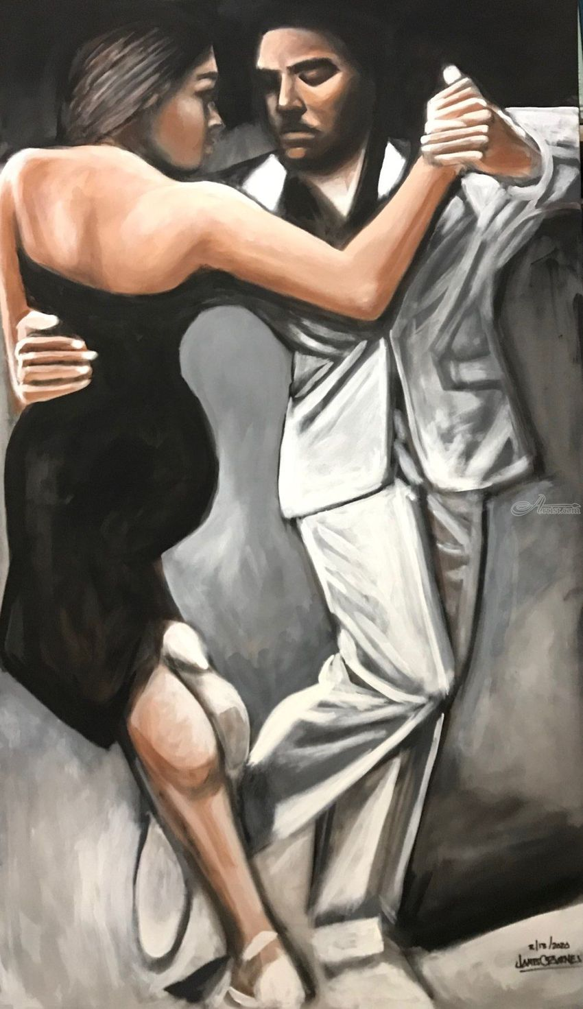 Dance with me!, Paintings, Fine Art, Figurative, Acrylic, By James Calvin Barnes