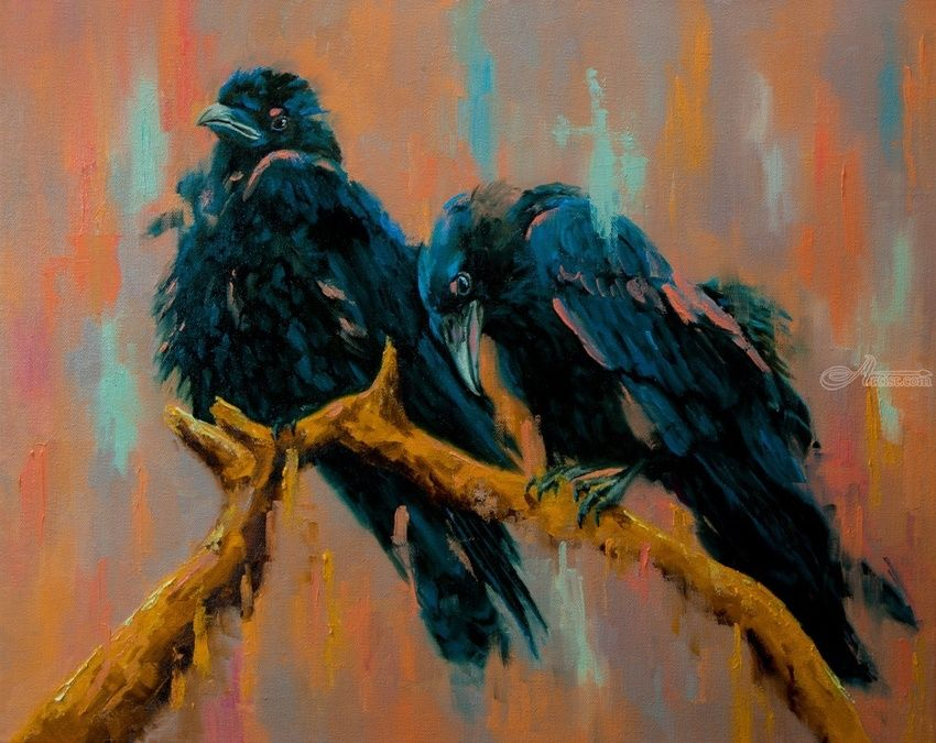 Double Exposure Paintings Impressionism Animals CanvasOil By Dan Twitchell