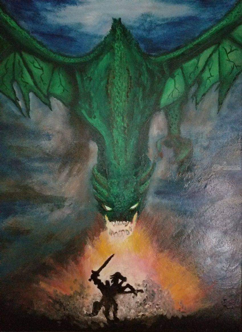 dragon battle paintings by robert given artist com