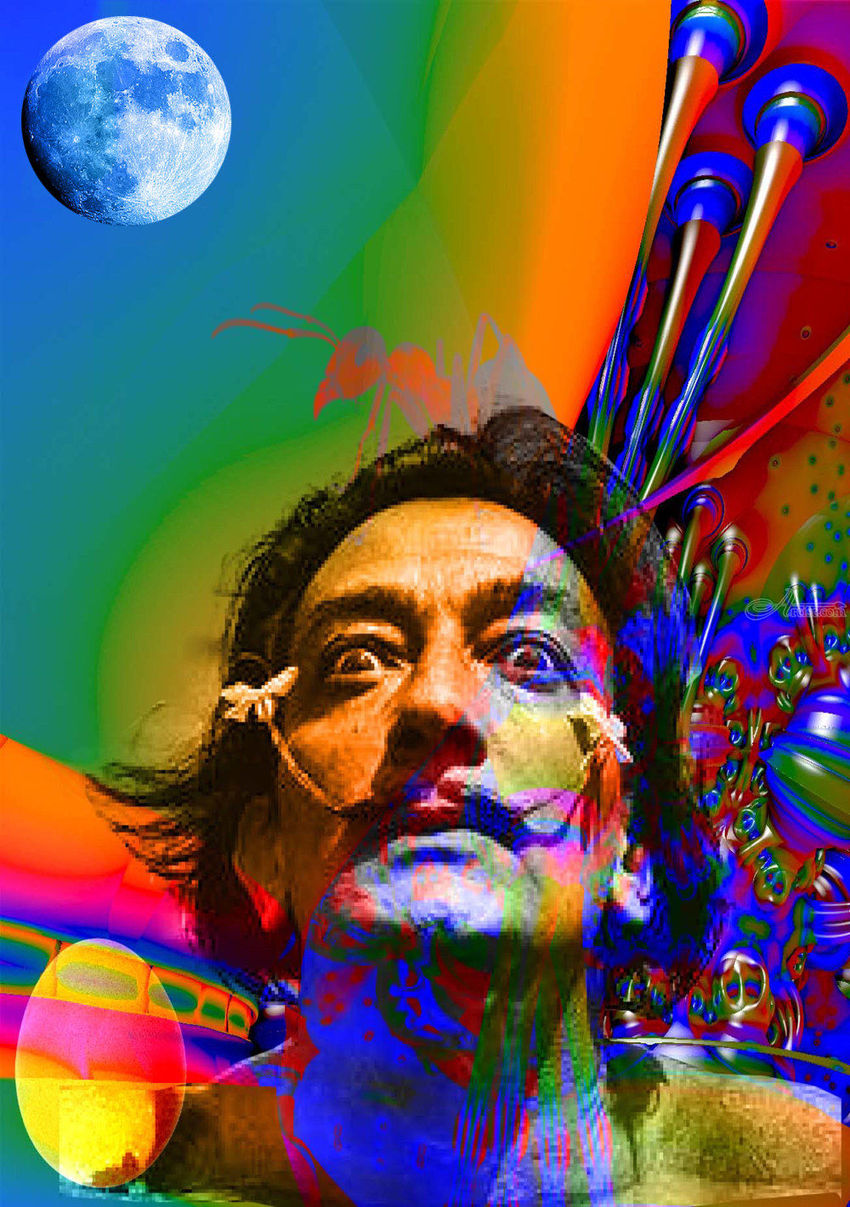Dream of Salvador Dali, Digital Art / Computer Art, Commercial Design, Hallucinogens, Surrealism, The Unconscious, Digital, By Matthew Lacey