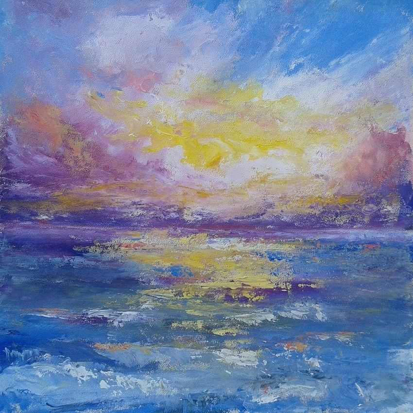 DREAM ON, Paintings, Abstract,Expressionism, Seascape, Acrylic, By Emilia Milcheva