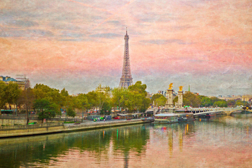 Eiffel Tower, Photography, Photorealism, Cityscape, Photography: Premium Print, By Mike DeCesare
