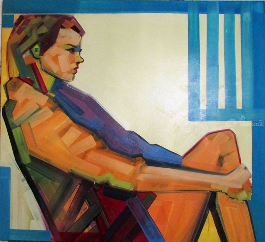 en_capsule, Paintings, Modernism, Figurative, Canvas,Oil,Wood, By Piotr Ryszard Kachny