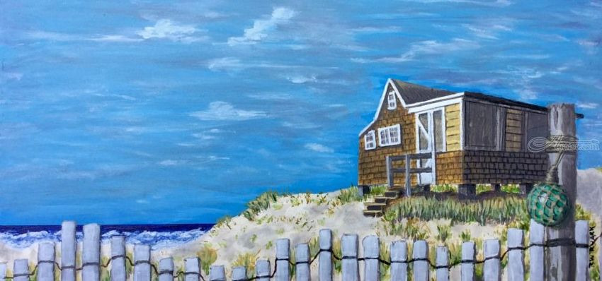 End of Season, Paintings, Realism, Seascape, Acrylic, By Rick Ruark