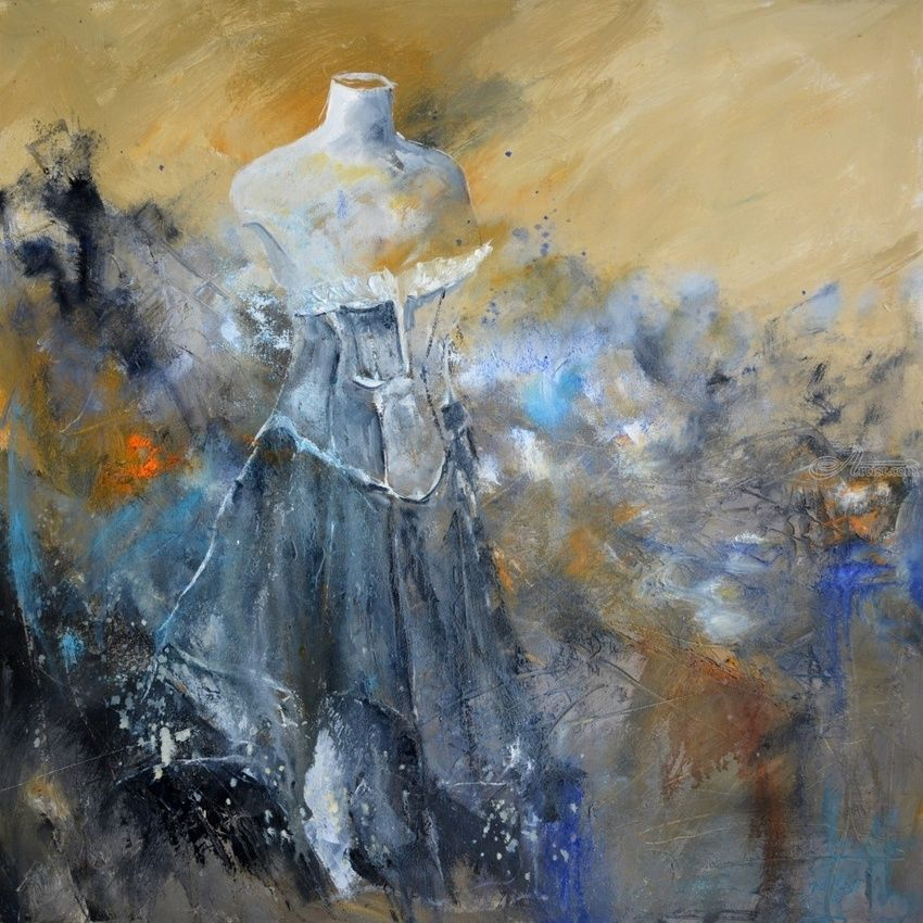 Fashion, Paintings, Impressionism, Erotic, Canvas, By Pol Henry Ledent