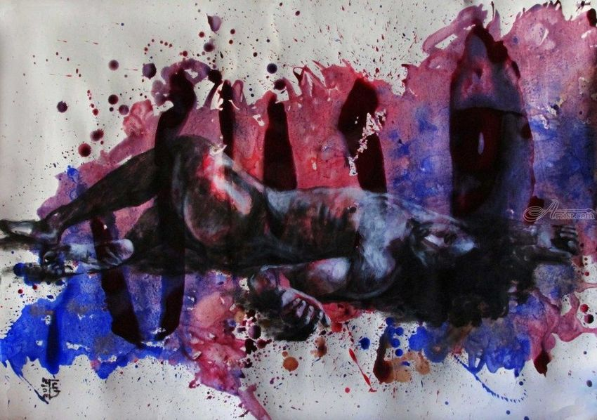 Feeling: Broken, Paintings, Expressionism, Fine Art, Modernism, Realism, Erotic, Figurative, Nudes, People, Acrylic, By Kateryna Bortsova