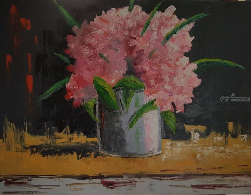 Flores, Paintings, Impressionism, Floral, Canvas, By Diego Ariel Catello