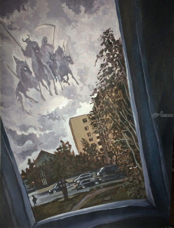 Four Horsemen Paintings by Victoria Trok - Artist com