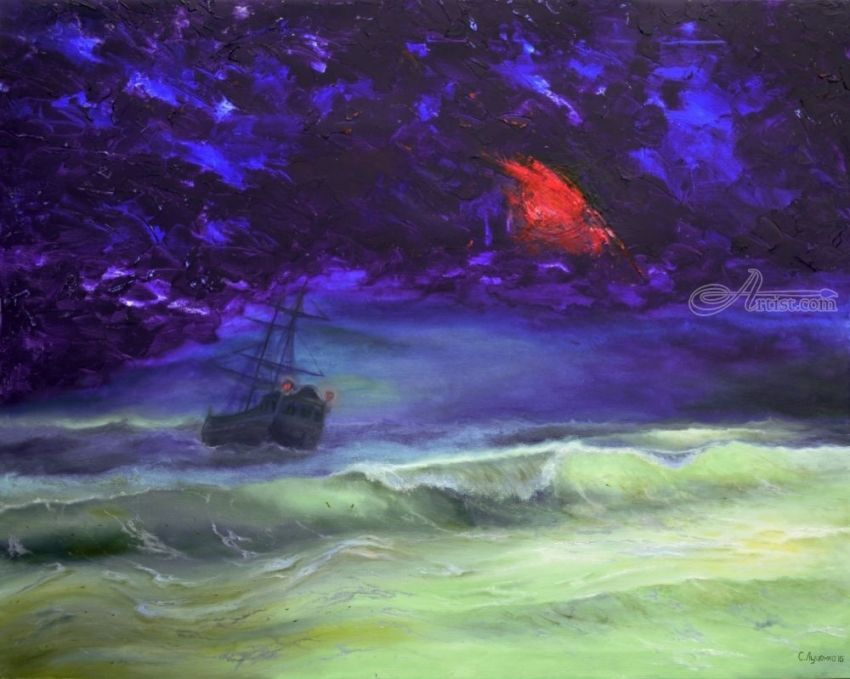 Ghost, Paintings, Abstract, Realism, Surrealism, Seascape, Canvas, By Sergey Sergeevich Lutsenko