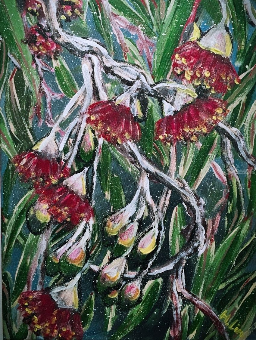 Gum flowers paintings by hsin lin artist gum flowers paintings modernism botanicalfloral canvas by hsin lin izmirmasajfo