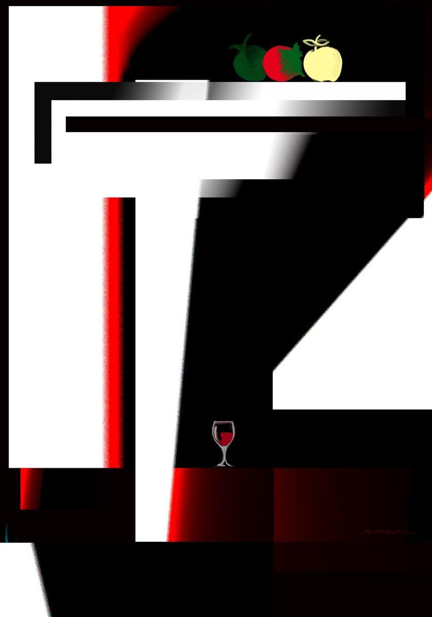 her glass of wine, Digital Art / Computer Art, Futurism, Minimalism, Modernism, Conceptual, Still Life, Digital, By Nebojsa Strbac