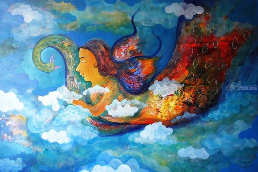 inner dream 3, Paintings, Abstract,Fine Art,Impressionism, Fantasy,Figurative, Acrylic, By sanjay g punekar