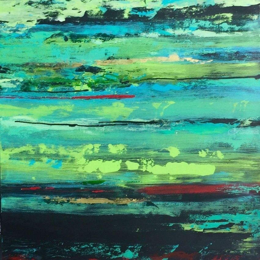 Jaded, Paintings, Abstract, Landscape, Acrylic, By Alice Lipping