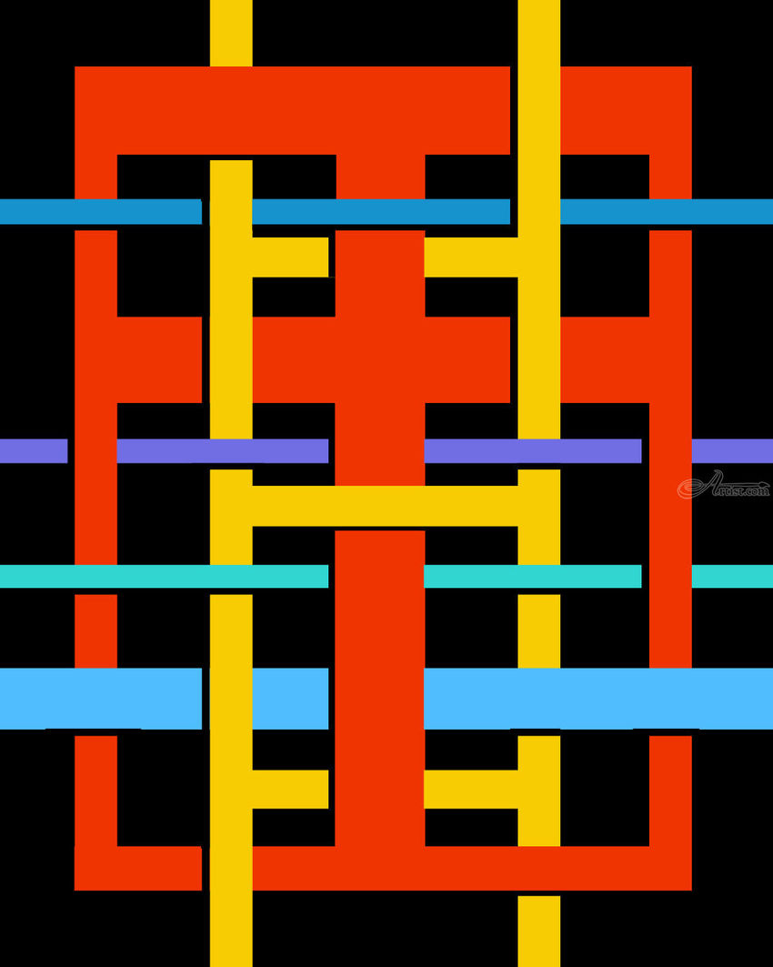 Ladder of Entanglement, Graphic, Pop Art, Analytical art, Acrylic, Canvas, By Rick Ruark