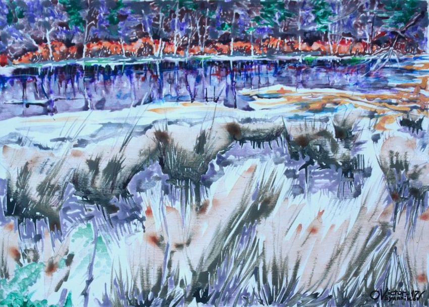 Lakes and swamps. 5, Paintings, Expressionism, Landscape, Acrylic, By Victor Ovsyannikov