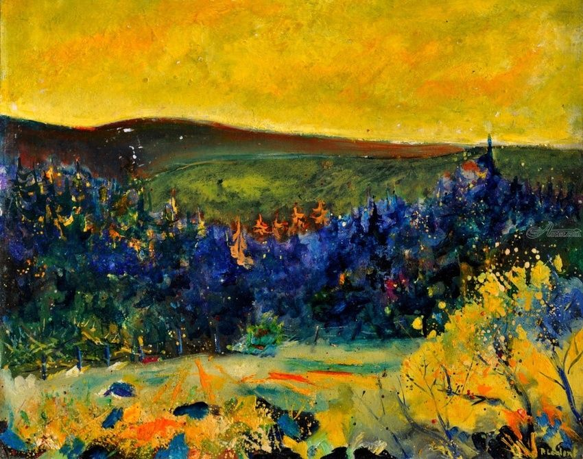 Landscape Wiesme, Paintings, Fauvism, Nature, Canvas, By Pol Henry Ledent