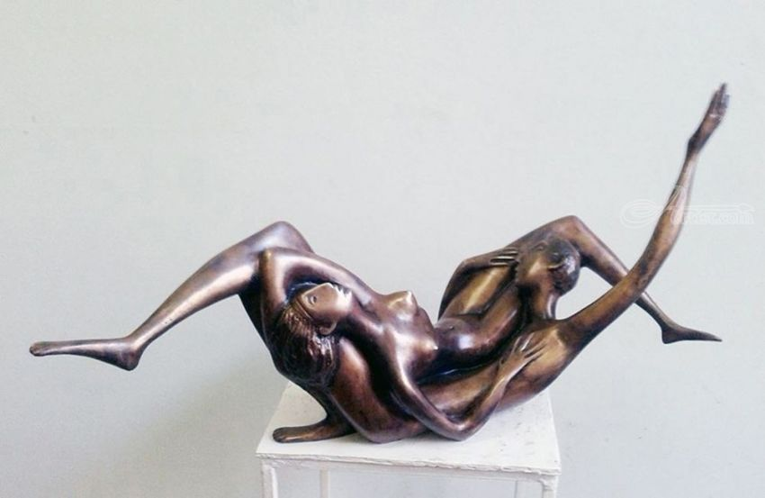 Later 2000yea bronze H 37X71X30cm  20000$, Sculpture, Abstract, Erotic, Bronze, By ZAKIR AHMEDOV