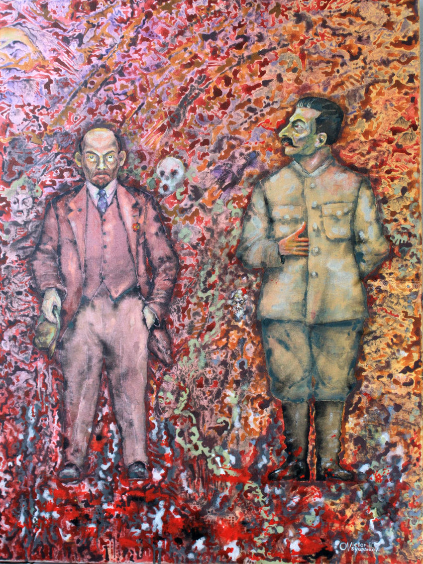 Leaders. 1, Paintings, Surrealism, Portrait, Acrylic, Canvas, By Victor Ovsyannikov