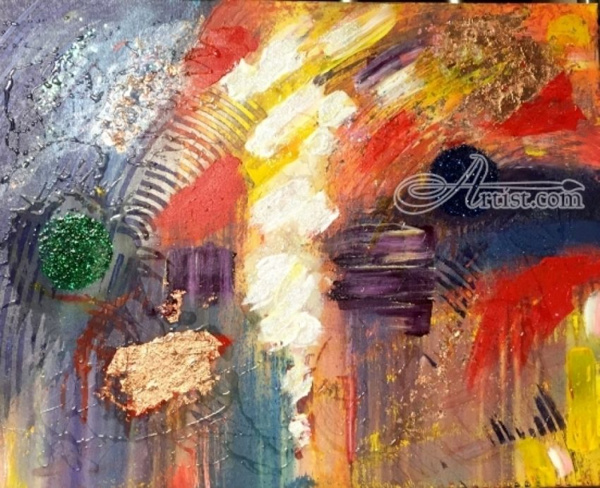 Light in my Chaos, Paintings, Abstract, The Unconscious, Canvas, By Aaron Leslie Ellisor