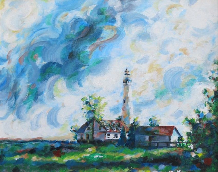 Lighthouse Paintings by Jane Adrianson - Artist com