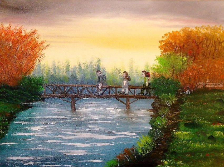 Living Waters, Land Art, Paintings, Fine Art, Realism, Inspirational, Landscape, Canvas, Oil, Painting, By Lana karin Fultz