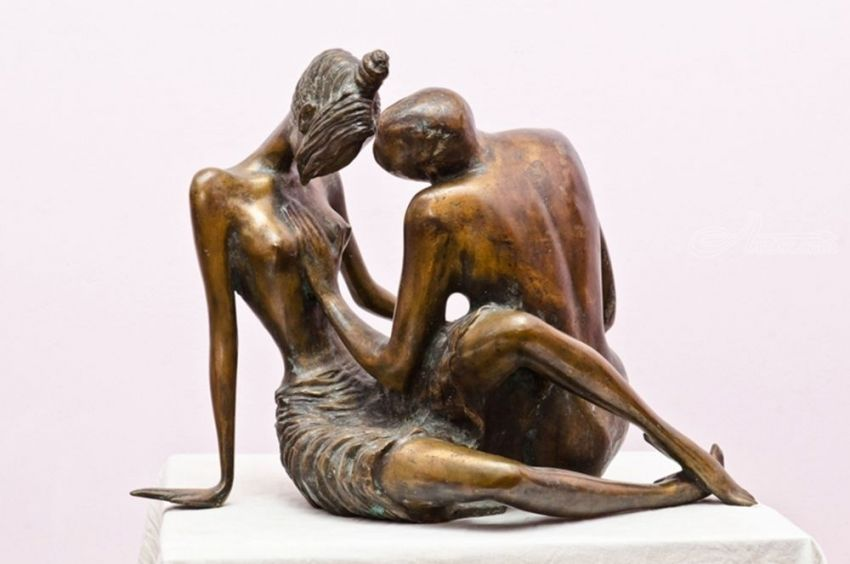 Love, Sculpture, Modernism, Figurative, Bronze, By ZAKIR AHMEDOV