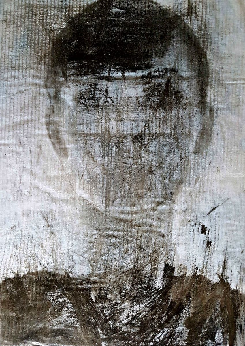 Lucia (n.375), Paintings, Abstract, People,Portrait, Acrylic, By Alessio Mazzarulli