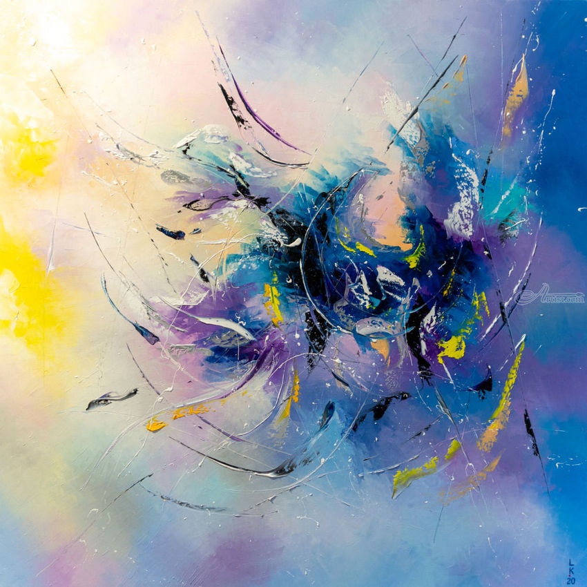 Maelstrom of life, Paintings, Abstract, Composition, Decorative, Fantasy, Oil, By Liubov Kuptsova