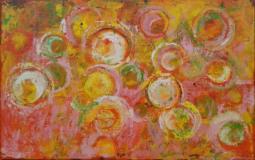 MERRY BUBBLES, Paintings, Abstract, Expressionism, Modernism, Cityscape, Composition, Decorative, Fantasy, Spiritual, Acrylic, By Emilia Milcheva