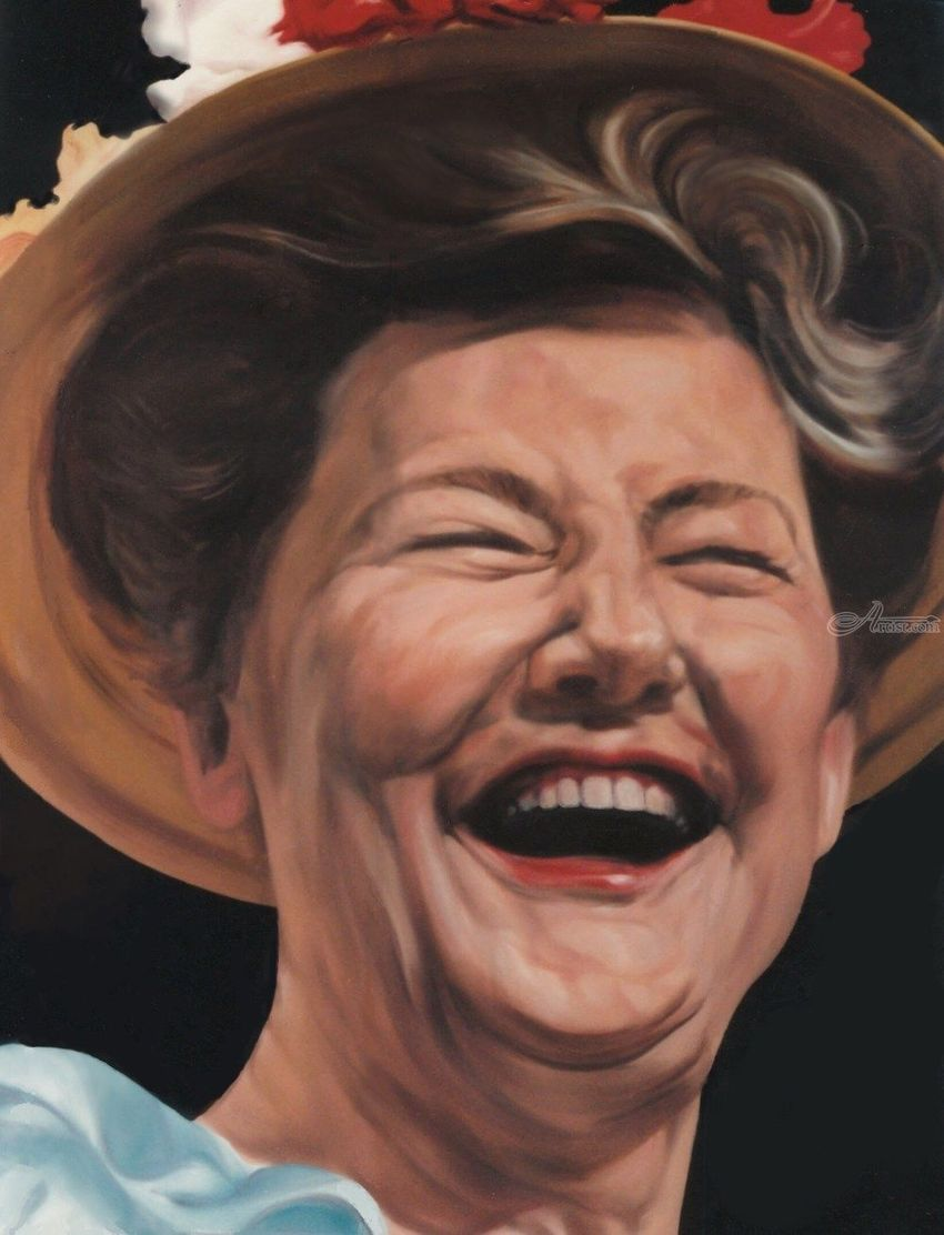 Minnie Pearl, Murals,Paintings, Fine Art,Realism, Figurative,Humor,Music,People,Portrait, Oil,Painting, By James Cassel